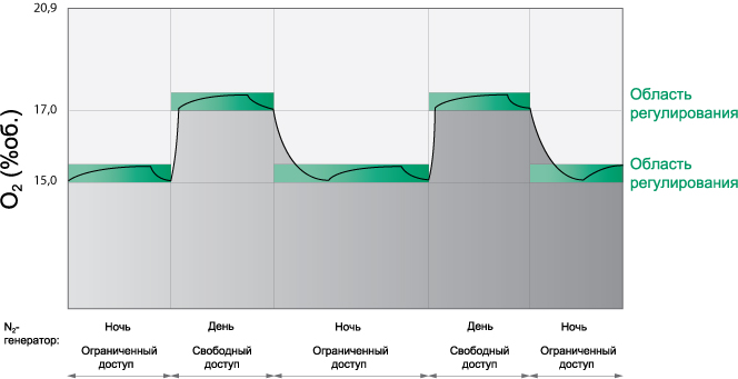 Проектирование систем безопасности, концентрация кислорода